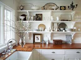Cute Kitchen Decor by Kitchen Shelves For Kitchen Decor With White Designs Include