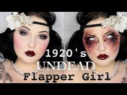 1920 s zombie flapper makeup tutorial jordan hanz