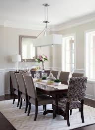 Dining Rooms With Wainscoting Dining Chairs Beige Dining Room Traditional With Modern Chandelier