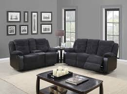 Fabric Sofa Recliners by U1566 Motion Sofa Dark Grey Fabric U0026 Black Pu Global W Options