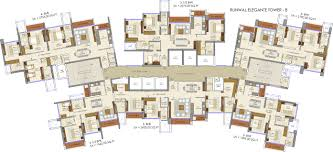 3105 sq ft 4 bhk 6t apartment for sale in runwal realty elegante