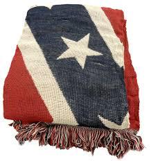 American Battle Flag Confederate Rebel Battle Flag Woven Blanket 4 X 6 Ft