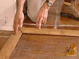 Laminate Floor Edging Trim How To Install A Tile Floor Transition How Tos Diy