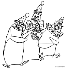 penguins madagascar coloring pages print coloring pages ideas