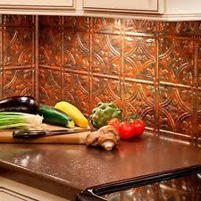 copper kitchen backsplash copper backsplash home garden ebay