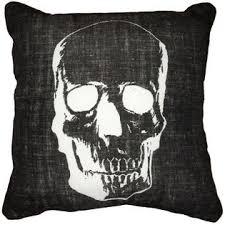 halloween skull decorative pillow home home decor pillows