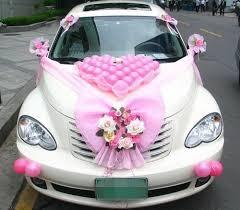 Wedding Car Decorations Wedding Car Decorated With New Ideas Car Wedding Flowers