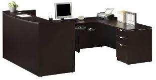 u shaped reception desk reception desk reception station mahogany cherry laminate