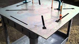 Welding Table Plans by 3 8