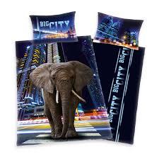 trend textilien big city elephant bedlinen