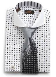 steven land grey polka dot french cuff dress shirt ds1119 well