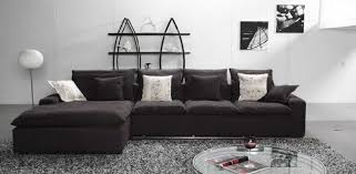 Black Fabric Sectional Sofas Fabric Sectional Sofas With Chaise Sofamoe Info