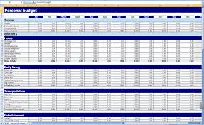 Financial Spreadsheet Monthly And Yearly Budget Spreadsheet Excel Template