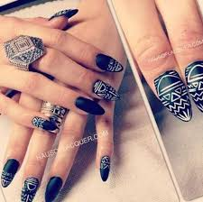 37 black and white nail designs stylepics