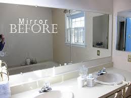 Diy Bathroom Mirror Ideas Likeable How To Frame A Bathroom Mirror With Wood For