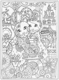 coloring page cat coloring pages for adults coloring page and