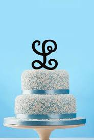l cake topper aliexpress buy custom letter l cake topper monogram wedding