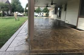 patio designs pool remodeling wichita stamped concrete dirt