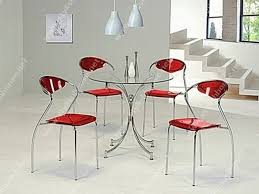 Red Dining Room Table by Table Modern Round Glass Dining Room Table Scandinavian Large