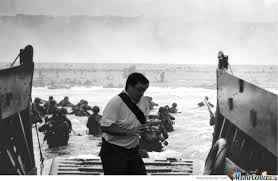 D Day Meme - in the way guy d day by mayormccheese meme center