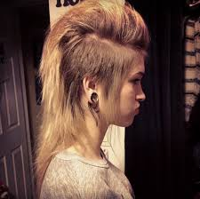 long hair at the front shaved at the back mohawk for girls shaved both sides layers on the rest of hair