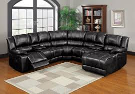 Black Leather Sofa Recliner Power Reclining Sofa With Cup Holders 1025theparty