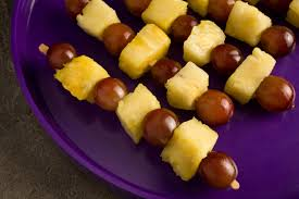pineapple and grape kebabs recipe chowhound