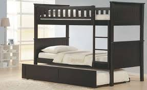 Bunk Bed With Trundle And Drawers Bunk Beds With Drawers Espresso Stairway Bed Trundle And
