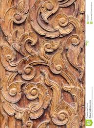 pattern art of wood carving stock photo image 43675537