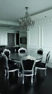 black and silver dining room set with nifty black and silver