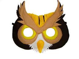 masks for kids children s woodland animal owl felt mask magical attic