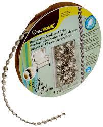 amazon com dritz 44286 upholstery nailhead trim silver 5 yard