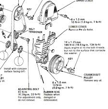 2001 honda civic timing belt tensioner gasket replacement without removing all of the timing belt