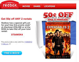 free is my discount 50 cents 2 rentals at redbox ends