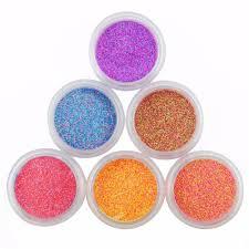 aliexpress com buy 6pc set glitter nail powder for nail