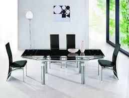 Black Glass Extending Dining Table Black Glass Extending Dining Table Modern Home Design