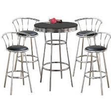 metal bar table set amazon com man cave metal bar table pub set with 4 swivel seat