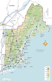 New England Map by