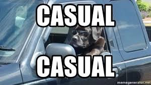Dog Driving Meme - casual casual dog driving car meme generator