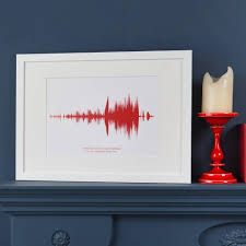 personalised song sound wave print by mixpixie