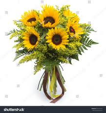 bouquet of sunflowers bouquet sunflowers stock photo 411412912