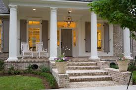 Christmas Decorations For Outside Columns by Front Porch Columns Christmas Decoration Front Porches Plan