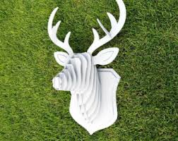 large small wooden deer kit wall decor laser cut