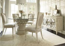Dining Room Antique White Dining Room Table With Wooden Pedestal - Round pedestal dining table in antique white