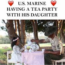 Us Marine Meme - dopl3r com memes u s marine having a tea party with his daughter