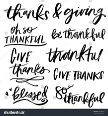 thanksgiving lettering thanksgiving be thankful stock