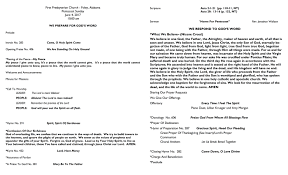 presbyterian foley bulletins