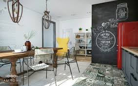 amazing apartment ideas for couples with chalkboard walls decor