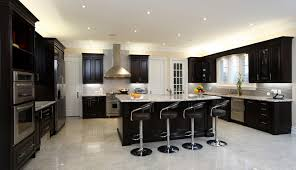 Fancy Kitchen Cabinets 2 by Elegant Straight Shape Kitchen Come With Black Color Gloss Kitchen
