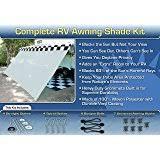 Rv Awning Shade Screen Amazon Com Rv Awning Shade Kit Black Motorhome Awning Screen